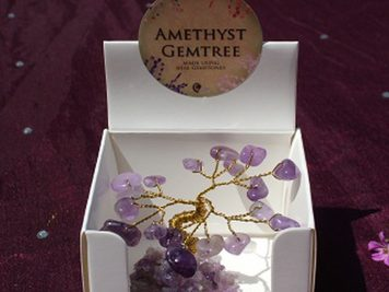 amethyst mini gem tree