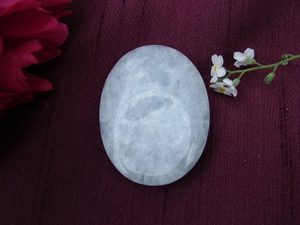 Blue Calcite Thumb Stone