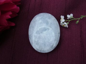 Blue Calcite Thumb Stone