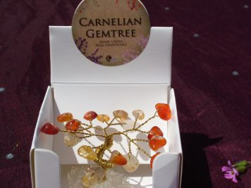 carnelian mini gem tree