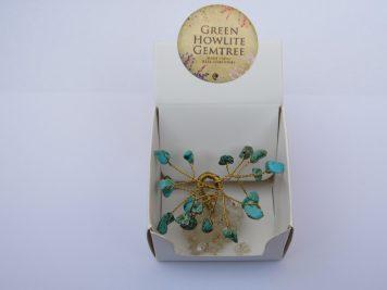 turquoise howlite mini gem tree
