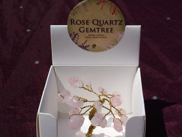 rose quartz mini gem tree