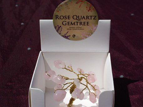 rose quartz mini gem tree